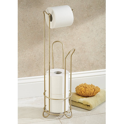 Toilet Paper Holder Stand Bathroom Tissue Roll Storage Rack Stylish Pearl Gold