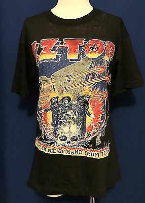 vintage 1981 ZZ Top El Loco TOUR CONCERT TSHIRT shirt UNUSED LARGE MINT Texas