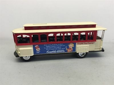 ERTL Die-Cast 1/43 Scale CAMPBELL'S SOUP Trolley Car Coin Bank
