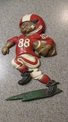 HOMCO BRAND! - '76, Metal, #88, Red/White Uniform, Football Player, Pre-Owned