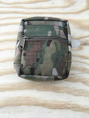 """multicam small zippered Molle general purpose pouch 4""""x5"""""""