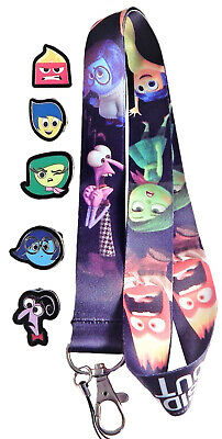 Inside Out Lanyard Set with 5 Trading Pins Walt Disney World Parks ~ Brand NEW