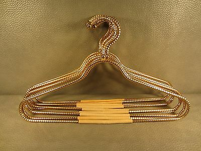 Set of 9 LEE ROWAN 24K Gold Plated Clothes Hangers Metal Heavyweight