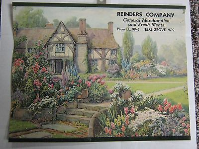 Early Advertising For Reinders Company General Merchandise Elm Grove Wisconsi Wi