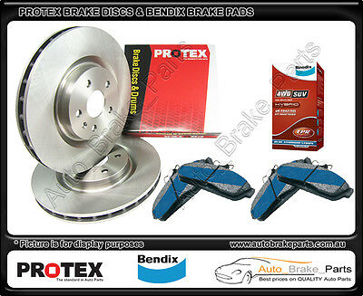 PROTEX Rear Discs & BENDIX 4WD Brake Pads suit FORD TERRITORY SX, all models