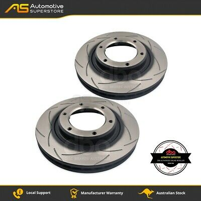 DBA784S Brake Disc Rotor Pair 4X4 Survival Series T2 Slotted DBA