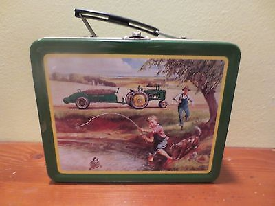 "John Deere Lunch Box - ""turtle Trouble"" Vtg Style Metal Lunchbox"