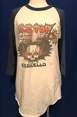 vintage 1980 ZZ Top Deguello TOUR CONCERT TSHIRT JERSEY shirt Expect No Quarter