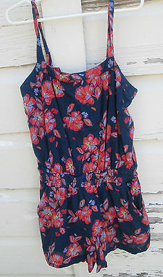 Gap Kids Girls Floral  Romper Sleeveless One Piece Size L Large