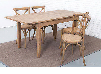 Coppee 1.4-1.8M Extension Dining Table Hampton Solid American Oak Wooden