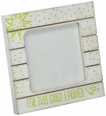Dicksons Baby Photo Frame, For This Child I Prayed/White