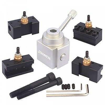 Jinwen Tooling Package Mini Lathe Quick Change Tool Post & Holders Multifid