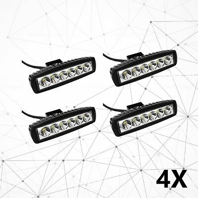 4 x 6inch 30W LED Work Light Bar Driving Lamp Flood Truck Offroad MINING UTE 4WD