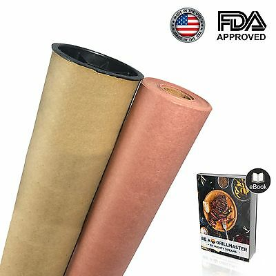 Mighty Dreams Butcher Pink/Peach Paper Roll with Carry Tube and eBook 18'' x 150