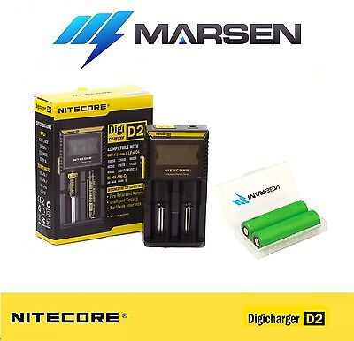 Nitecore D2 charger with Sony US18650 VTC4 High Drain Lithium batteries