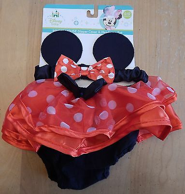 Disney Baby Minnie Mouse Diaper Cover + Headband Set 0-12 Months
