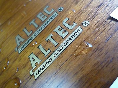 "Altec Lansing WATER DECAL ""TYPE-A"" logo - speaker cabinet driver horn - New"