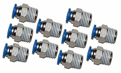 """10 Pieces 1/4"""" Tube x 1/4"""" NPT  push to connect fitting"""