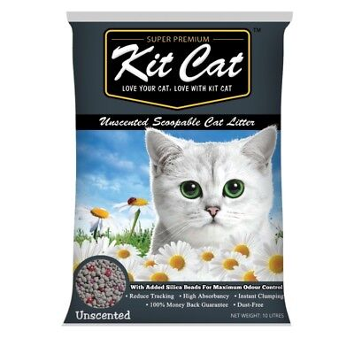 Kit Cat Unscented Litter with Silica Gels 10 litres