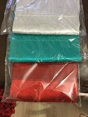 Aso Oke in Red, Silver and Teal Green also have it in Gold and mercury. 1pc.