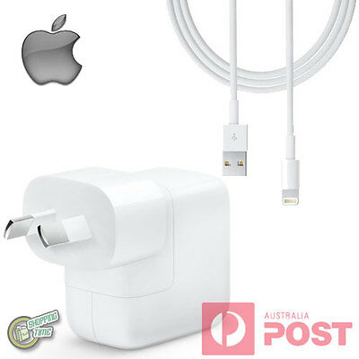Original Genuine Apple iPad Air 2 Air2 AC WALL CHARGER Lightning USB Data Cable