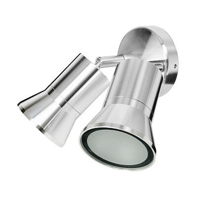 Apache Spot Wall Light Twin Adjustable GU10 4W IP65 Brilliant Lighting 19685/20