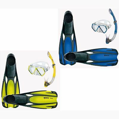 MARES Childs TOP QUALITY SILICONE Mask, Fins, Snorkel Set - Sizes 8 to 3 **NEW