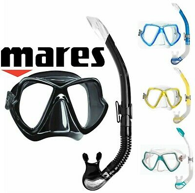 Mares WAHOO BAY Scuba or Snorkelling MASK and SNORKEL Set with Mask Box -