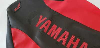 SEAT COVER ULTRA GRIP YAMAHA RAPTOR 660 red & black , EXCELLENT QUALITY!