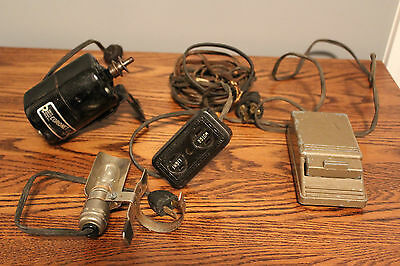 Antique Sewing Machine Motor, Light, Foot Pedal and Cord