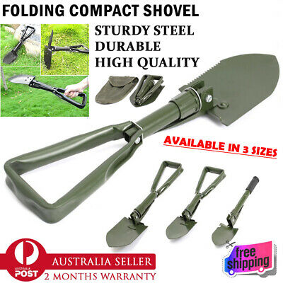 Folding Shovel Survival Multi Tools Pouch Camping Hiking Spade Outdoor Garden