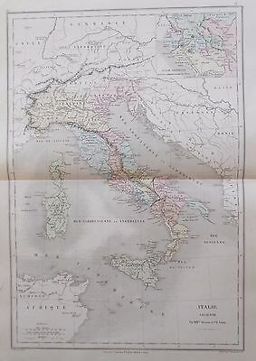 Map of Ancient Italy. 1863. EUROPE. ROME. ROMAN. Belin