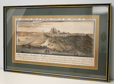 A Fine Early c18th Hand Coloured Engraving Samuel & Nathaniel Buck, Dated 1734