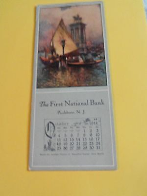 """Blotter """"1914 """"the First National Bank Of Paulsboro, Nj See Details"""