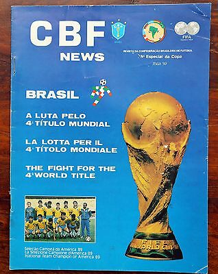 Brazil Official Team Brochure World Cup 1990