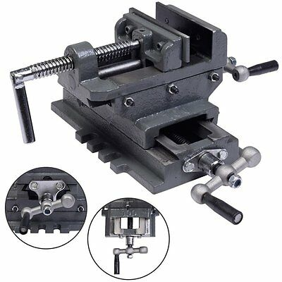 """Cross Slide Drill Press Vise Clamp X-Y Compound Metal Milling 2 Way Tool HD 4"""""""