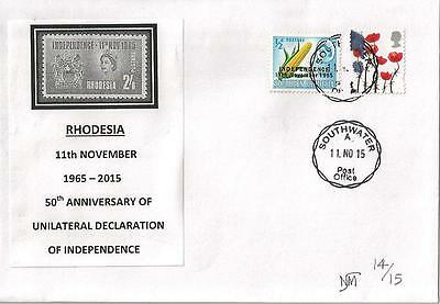 RHODESIA / ZIMBABWE 2015 50th ANNIV OF UDI LTD EDITION COVER TYPE I *SEE SCANS*