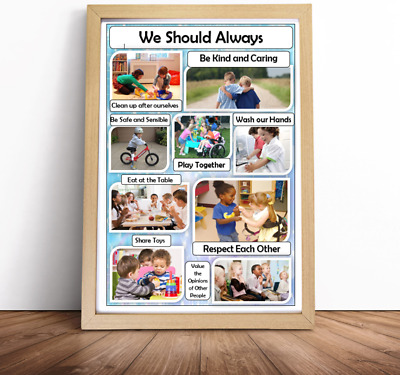 British vlaues positive image A4 poster setting expectations OFSTED childminder