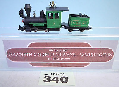 MINITRAINS 'HOe/009' NARROW GAUGE 0-4-0 E&CR LIVERY INC LIGHTS UNBOXED #340