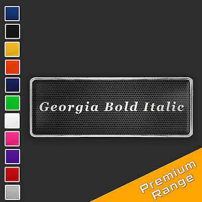 Custom Text Logo Chrome Badge CHOOSE YOUR FONT STYLE + COLOUR [add on only] GBI