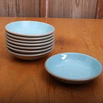 8 Harker Harkerware Blue Mist Speckle Stone China Small Berry Bowls
