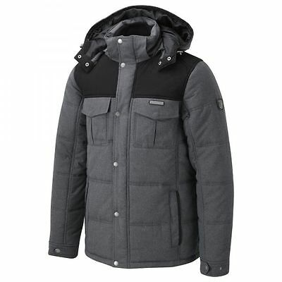 Craghoppers Mens Cleveland Coat Padded Jacket in Black/Grey SMALL **SAVE 50%**