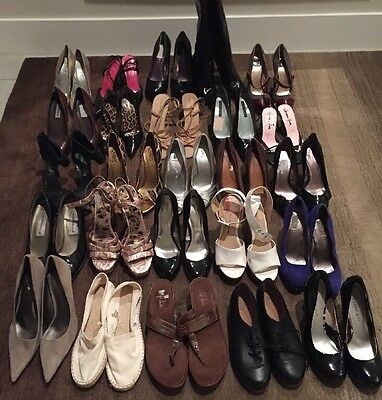 Lot Of 25~Ready For Resale Shoes Heels Designer Department Store Name Brand