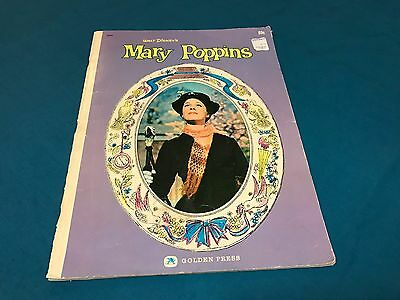 Golden Press Walt Disney Mary Poppins Motion Picture Book