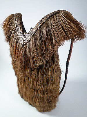 "Authentic Vintage Ifugao Rattan Hunter's Backpack ""Inabnutan"" Luzon Philippines"