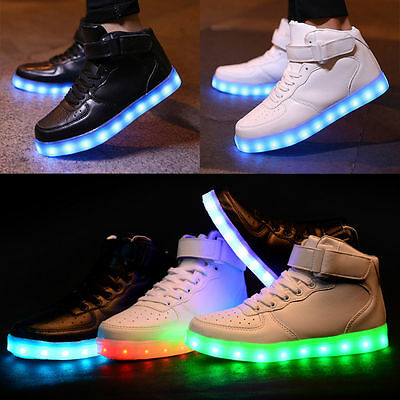 Unisex Kids High-tops LED Luminous Shoes Casual Sports Sneakers For Boys Girls