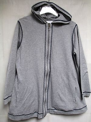 In Due Time Maternity Sweatshirt with Hood Hoodie Gray Stretch Size L