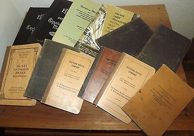 Railroad Instruction Manuals, Brake Equipment, Rules And Regulations Lot Of 12