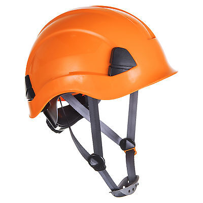 Orange climbing hard hat safety helmet height rescue abseiling petzl style