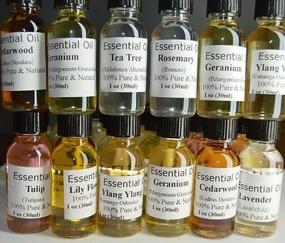 Pure Essential Oil for Aromatherapy (100%) 1 OZ
